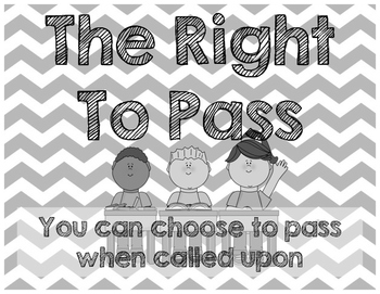Chevron Classroom Rules Posters (Jeanne Gibbs TRIBES)