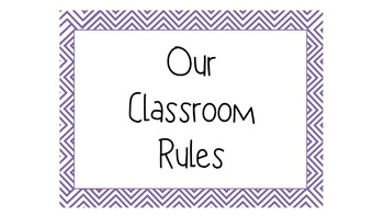 Chevron Classroom Rules (assorted colors)