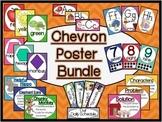 Chevron Classroom Sign and Poster Bundle (Modern Manuscript)
