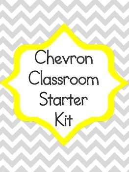 Chevron Classroom Starter Kit Alphabet Numbers Rules Behavior Chart Posters