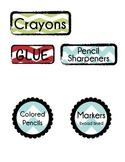 Chevron Classroom Supplies Labels