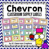 Chevron Classroom Supply Labels-Classroom Decor