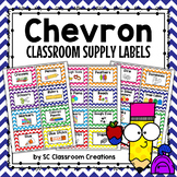 Chevron Classroom Supply Labels-Classroom Decor