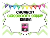 Chevron Classroom Supply Lables