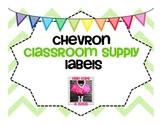 Chevron Classroom Supply Lables