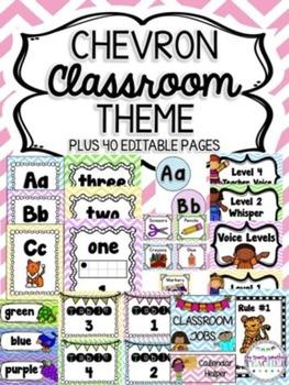Chevron Classroom Theme
