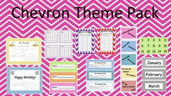 Chevron Classroom Theme Materials for All Grades and Teachers