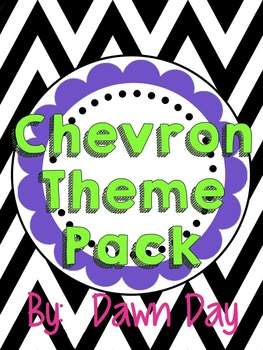 Chevron Classroom Theme Pack