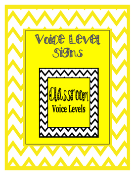 Chevron Classroom Voice Levels