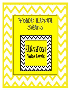 Chevron Classroom Voice Levels