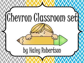 Chevron Classroom pack! (7 items, 3 colors)