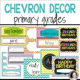 Chevron Decor (editable) - Primary Grades