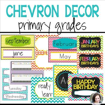 Chevron Decor (editable) - Primary Grades