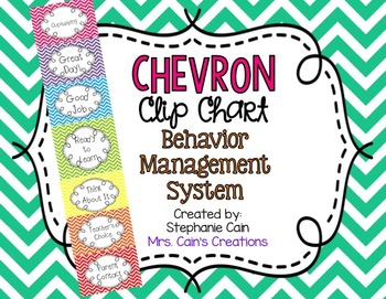 Chevron Clip Chart Behavior Management System