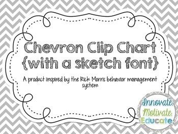 Chevron Clip Chart {Sketch Font}: a Behavior Management System