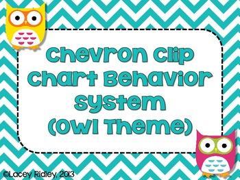 Chevron Clip Chart Behavior System {Owl Theme}