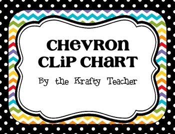 Chevron Clip Chart with Calendars, Recording Sheets, Behavior Management