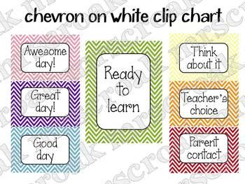 Clip Chart: Chevron - choose your style! (editable)
