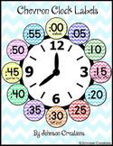 Chevron Clock Labels