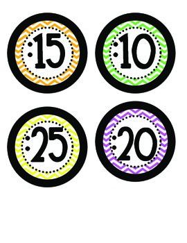 Chevron Clock Numbers