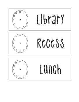 Chevron Clock Schedule Cards