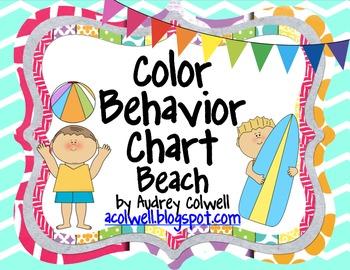Chevron Color Behavior Chart - Beach