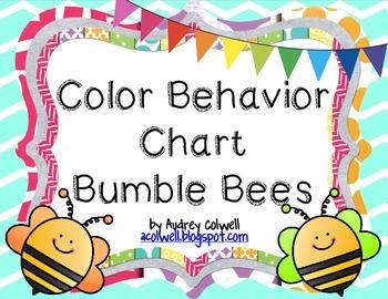 Chevron Color Behavior Chart - Bumble Bees