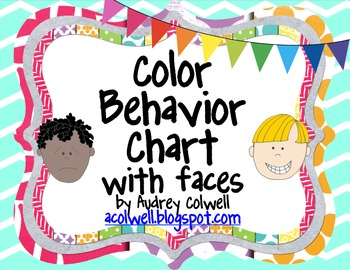 Chevron Color Behavior Chart - Facial Expressions