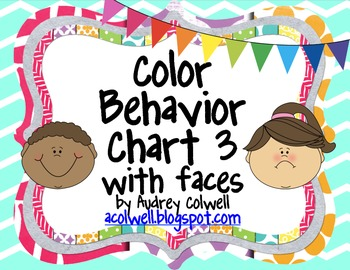 Chevron Color Behavior Chart - Facial Expressions 3