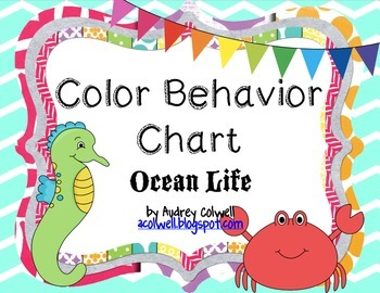 Chevron Color Behavior Chart - Ocean Life