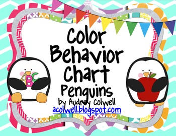 Chevron Color Behavior Chart - Penguins