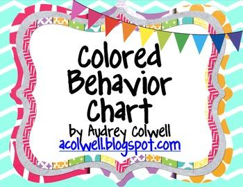 Chevron Color Behavior Chart - Pennants