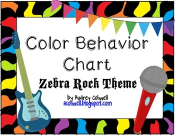 Color Behavior Chart - Zebra Rock!