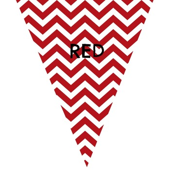 Chevron Color Bunting Banner