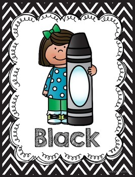 Chevron Color Kid Posters