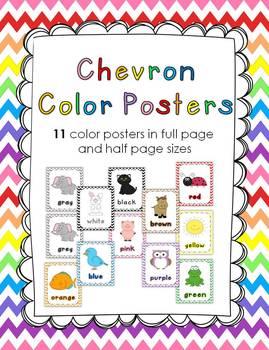 Chevron Color Poster Set