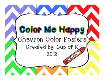 Chevron Color Posters