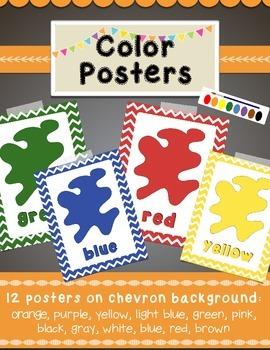 Chevron Colors Posters