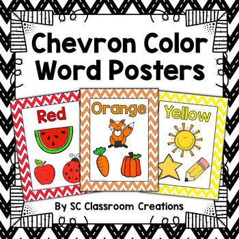 Chevron Color Posters (Stitched Chevron)