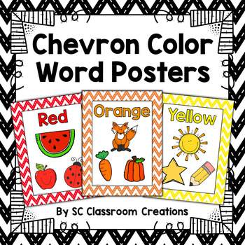 Chevron Color Posters (Stitched Chevron)-Classroom Decor