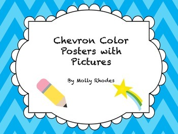 Chevron Color Posters with Pictures