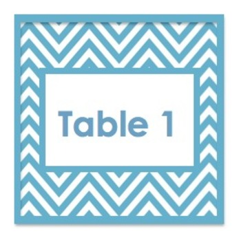 Chevron Color Table Numbers