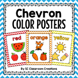 Chevron Color Posters-Classroom Decor