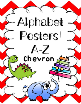 Chevron Colorful Aphabet Posters