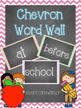 Chevron Colorful Pastel Word Wall