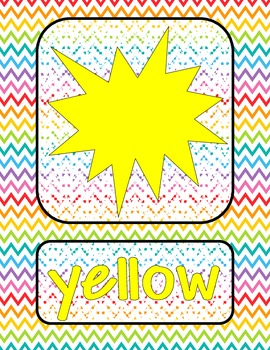 Chevron Colors and Color Words