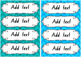 Chevron Colour Labels 4 per page {EDITABLE}