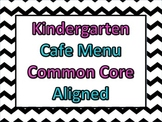 Chevron Common Core Cafe Menu Posters and Objectives for K