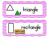 Chevron Common Core Math Vocabulary cards