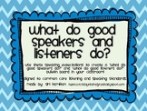 Chevron Common Core Speaking and Listening Expectations Bulletin Board